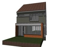 Uitbouw bestaande woning – Zevenbergen