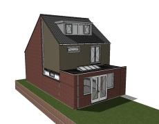 Aanbouw bestaande woning, Prinsenbeek