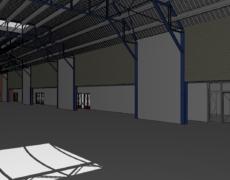Opzetten model bestaande toestand van een sportgebouw, te Arnhem.
