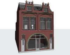 Model bestaande toestand, woning Breda
