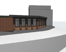 Opzetten bestaand model, kantoorgebouw te Lage Zwaluwe