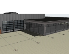 Opzetten bestaande toestand van een bestaand bedrijfsgebouw, te Roosendaal.