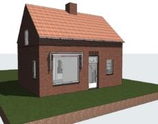 Opzetten model bestaande toestand van een woning, te Ossendrecht.