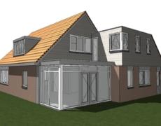 Plaatsen dakopbouw op een bestaande woning, te Breda.