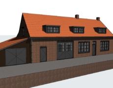 Opzetten model bestaande toestand, boerderij te Prinsenbeek