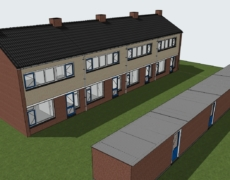 Bestaande toestand woningen Oosterhout