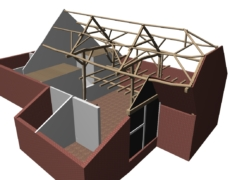 Inmeting bestaande constructie boerderij, te Waspik