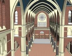 Bestaande toestand Heilighart kerk, te Breda