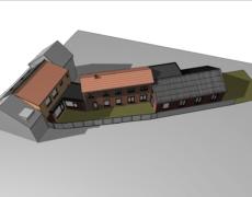 Bestaande toestand woning en bedrijfsgebouw Oosterhout