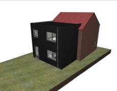 Aanbouw woning Made